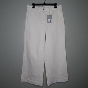 everlan women wide leg corp pants sz 14 white